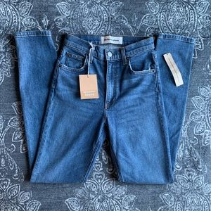 Reformation High & Skinny Jeans in Rhine Blue